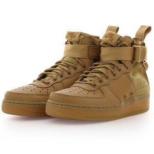 Brown Nike Mid Air Force 1's - sz 8